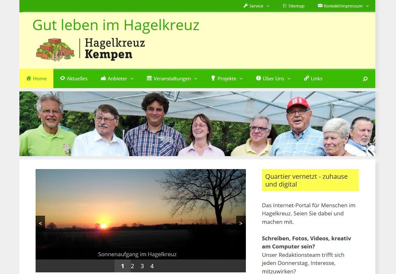 Screenshot mit Redaktionsgruppe Hagelkreuz Kempen