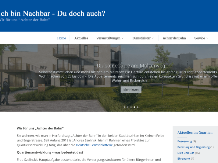Quartiers-Webseite Herford