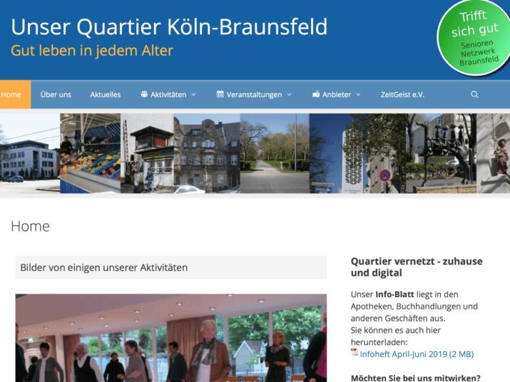 Quartiers-Webseite Braunfeld