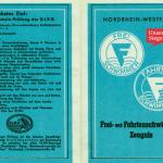 Das Frei- und Fahrtenschwimmer-Zeugnis aus den 1950er Jahren. Mit freundlicher Genehmigung von Prof. Hans-Peter Fries.