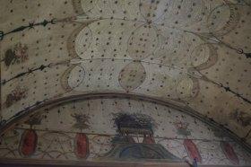 Detalle de la decoración de uno de los techos