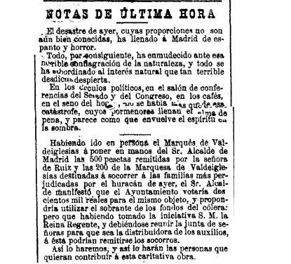 Tornado en Madrid 1886