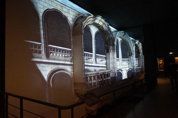 Presentación de los restos del Monasterio del San Jerónimo el Real en el Museo de San Isidro. Foto propia
