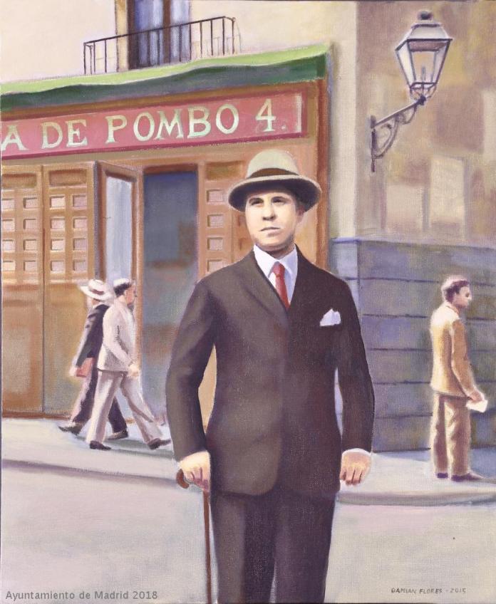 Damián Flores Llanos. Ramón ante Pombo. Museo de Arte Contemporáneo de Madrid. Fuente: Cer.es