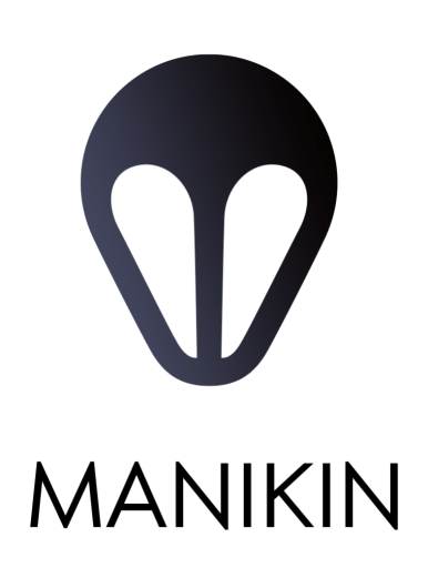 Manikin logo with subtitle: '3D posing for artists'