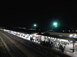View of the tracks-Agra Cantt