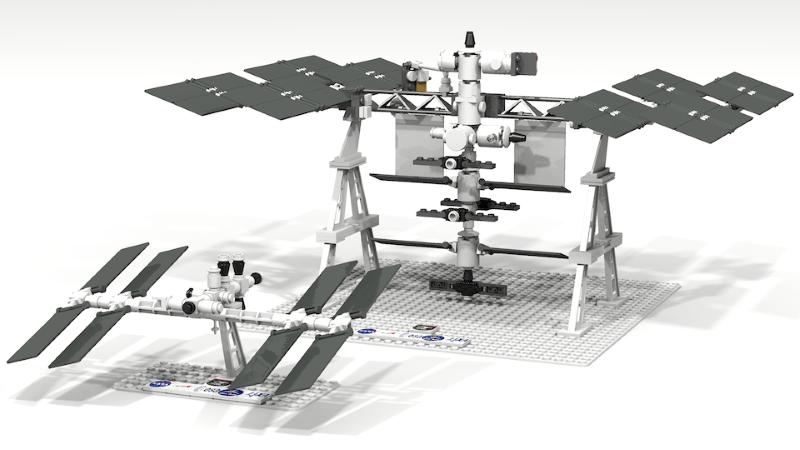 Fan's LEGO Replica of International Space Station