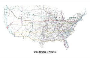 Every US Highway Drawn Like a TransitMap