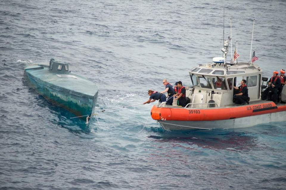 COAST GUARD INTERCEPTING SUBMARINE CARRYING $181 MILLION IN DRUGS!