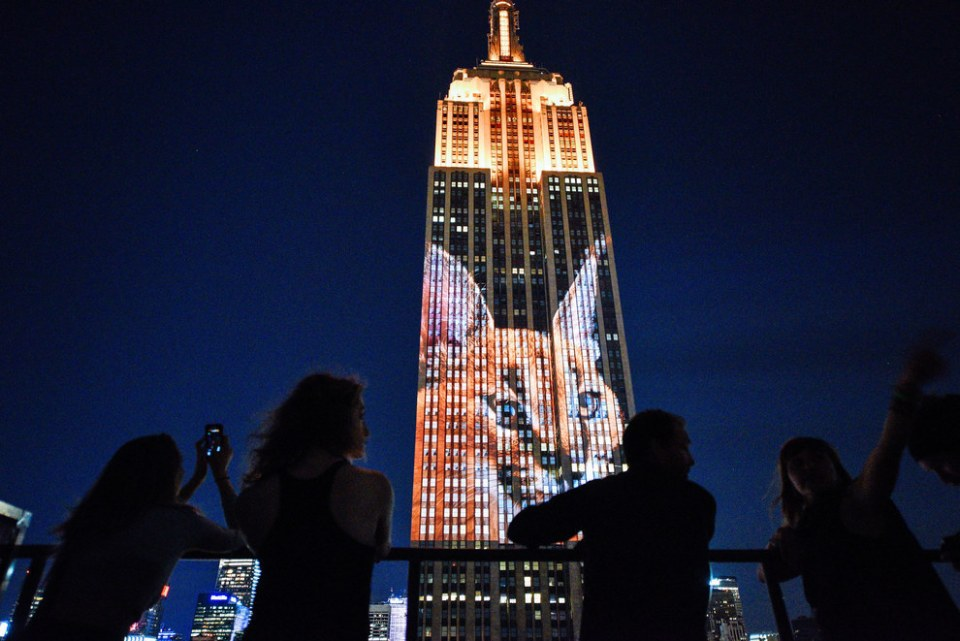 Endangered Animals Photos Are Projected On The Empire State Building