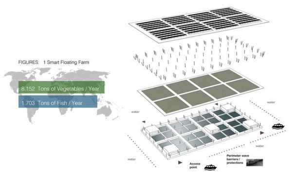 Floating Solar Farm Is Capable of Producing 8 Tons Of Veges Per Year