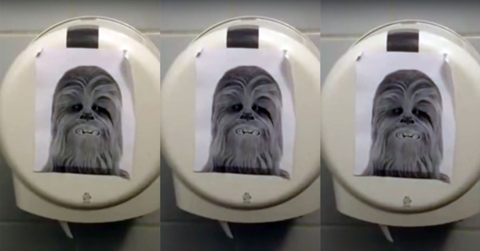 Toilet Paper Dispenser Which Make Sounds Like Chewbacca