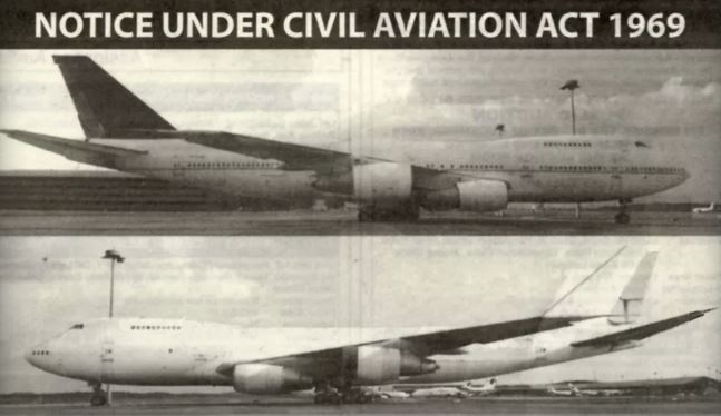 3 Boeing 747 Abandoned at International Airport