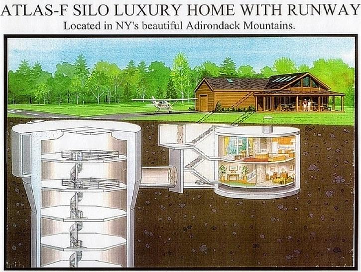 Nuclear Missile Silo Home — Saranac, New York