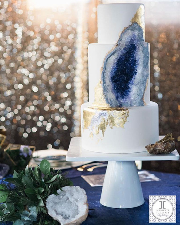 Beautiful Amethyst Cake That Truly Rocks