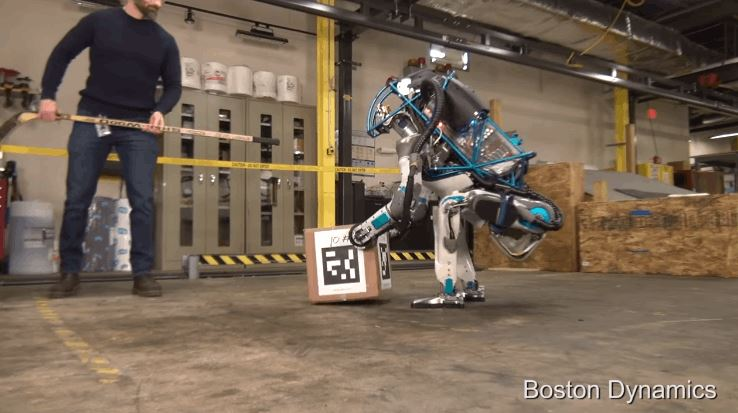 Boston Dynamics Most Advanced Upright Walking Atlas Robot