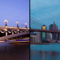 A Split-Screen Time-Lapse Video That Compares Paris and New York City
