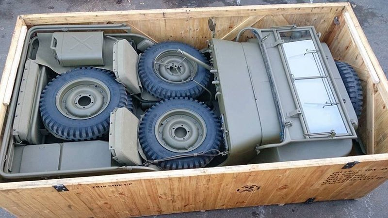 Military Jeep Packed in a Box