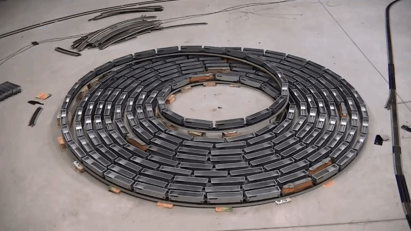 Spiral of Toy Trains