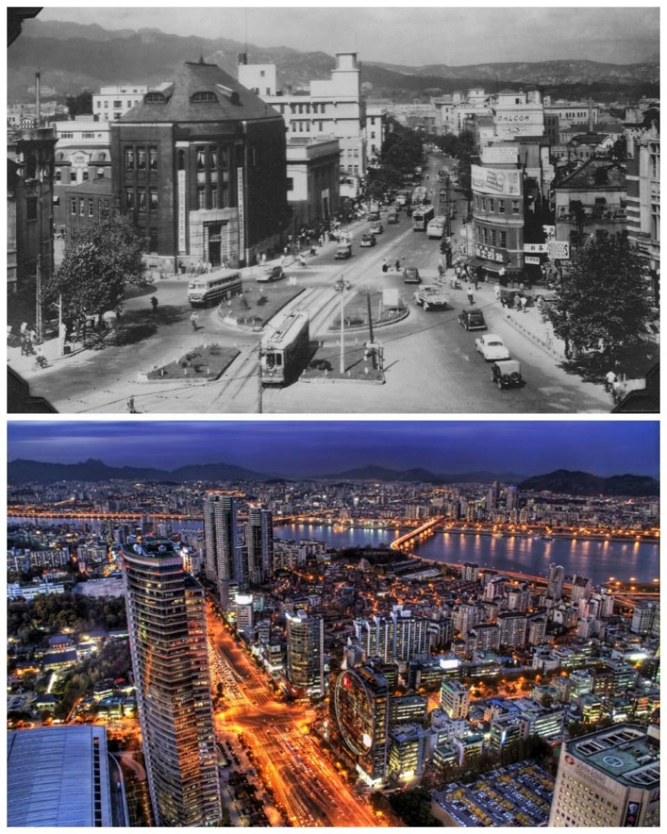 Seoul, South Korea: 1950 vs. the present day
