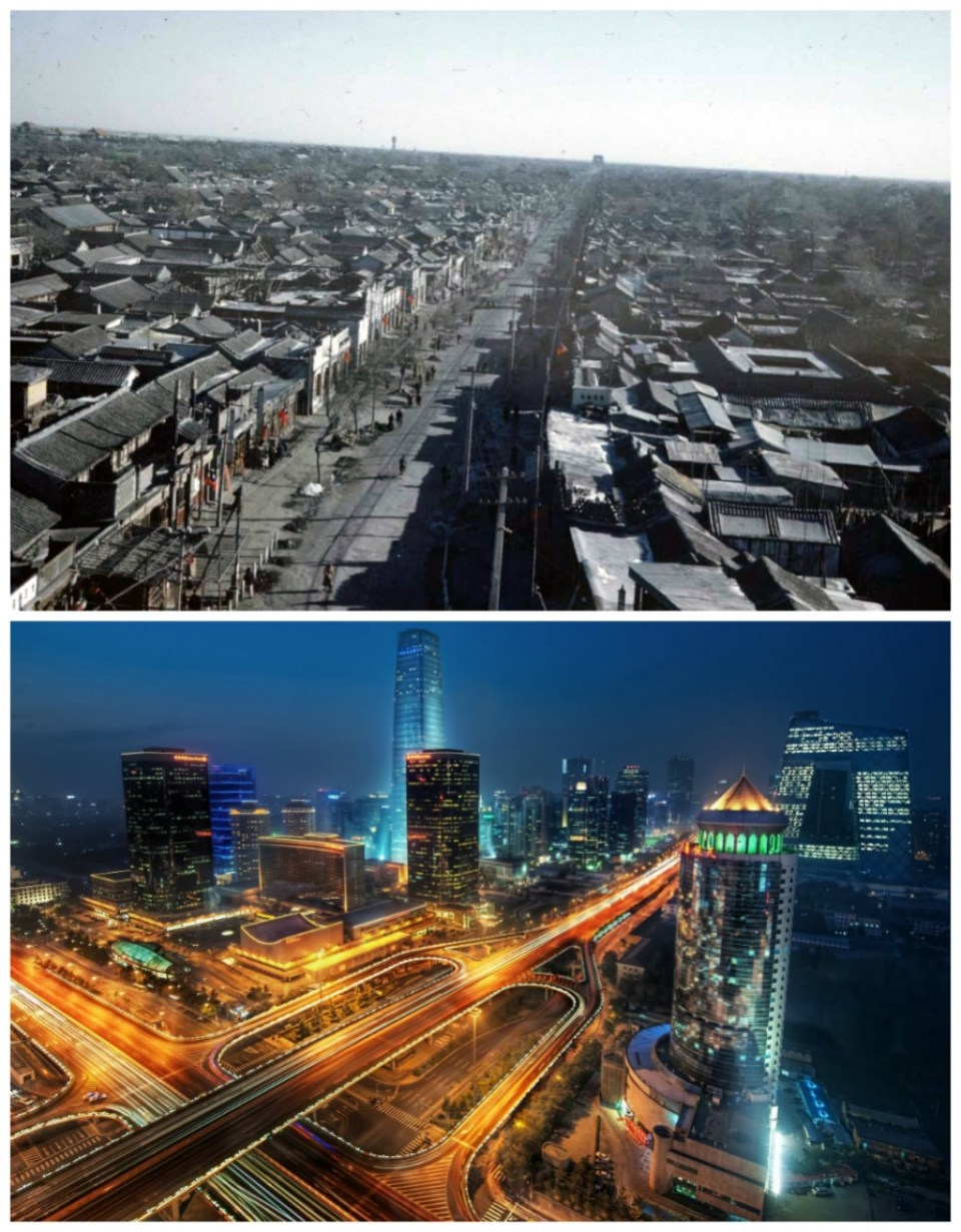 Beijing, China: The 1940s vs. the present