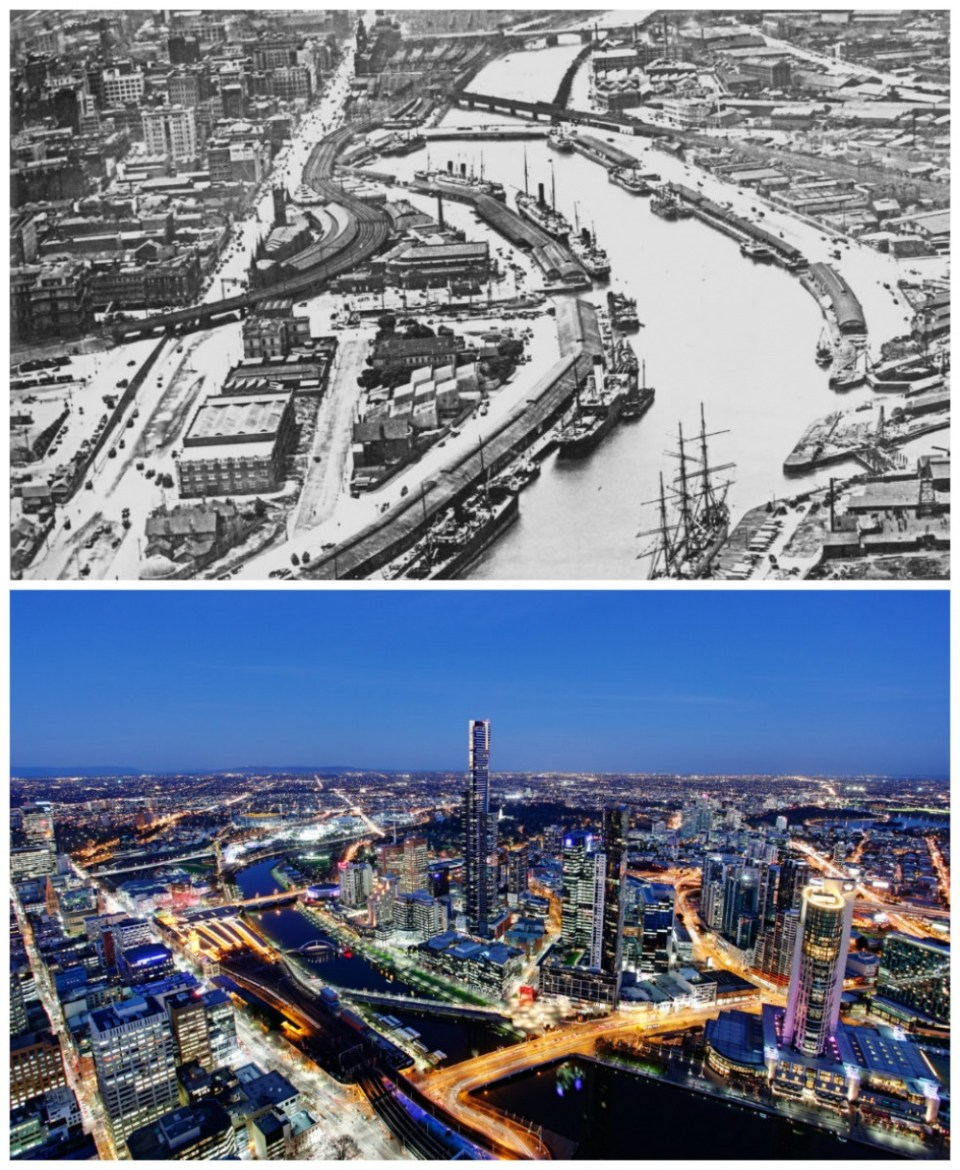 Melbourne, Australia: 1920 and today