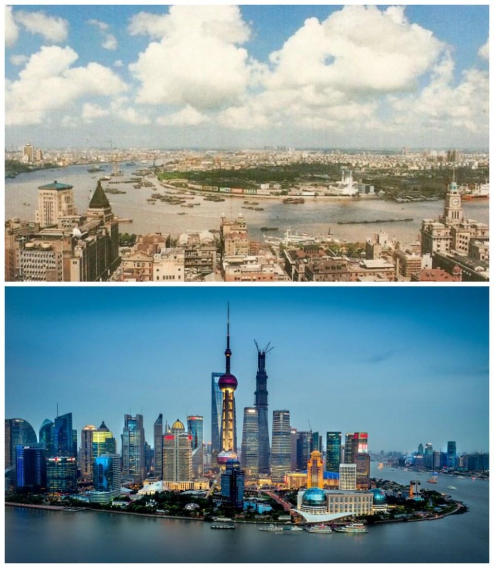 Shanghai, China: 1990 vs. the present