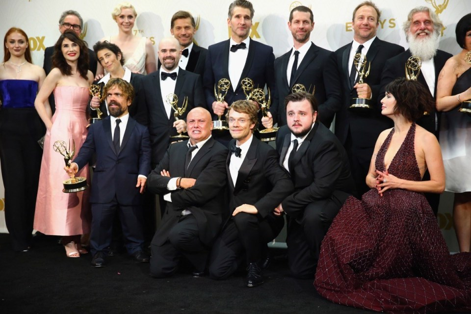 Game of Thrones cast at the emmys