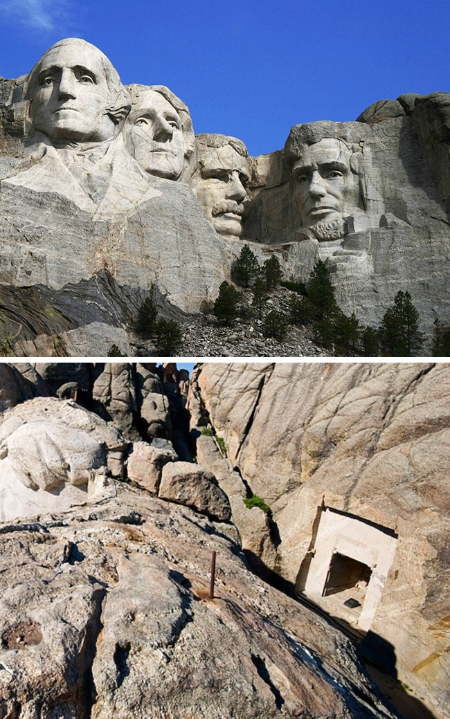 The time capsule in Mount Rushmore