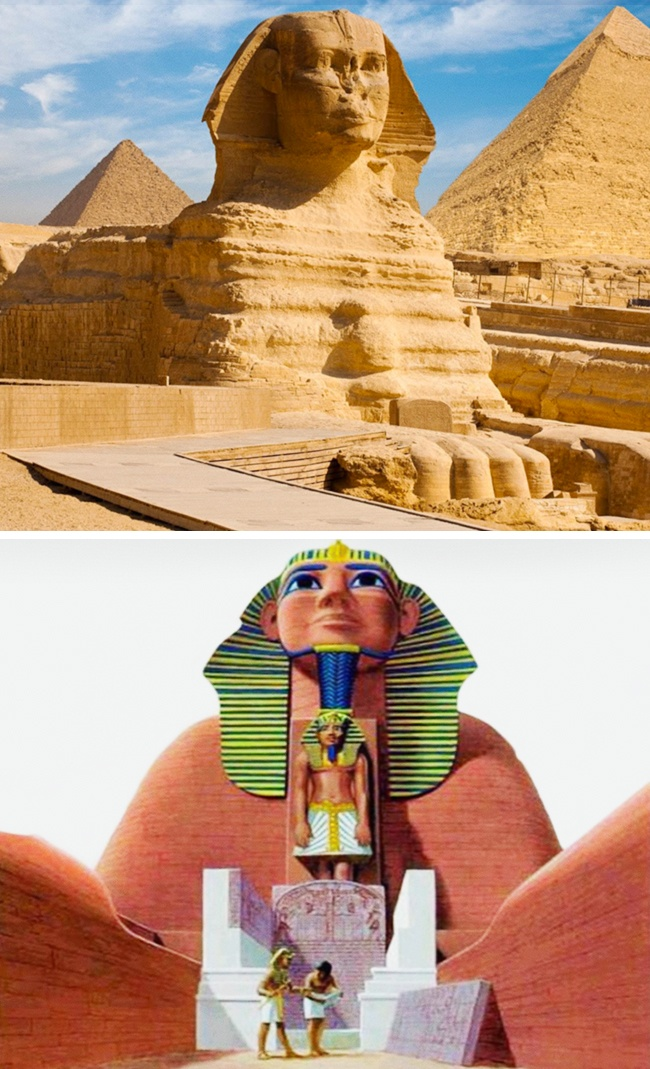 The Sphinx's original appearance