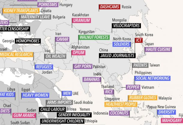 World Map Revealing The Habits Of Each Country
