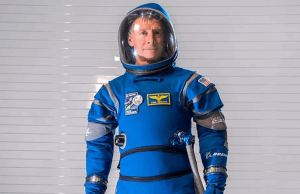 Astronauts Spacesuits Are Turned Into Bright Blue