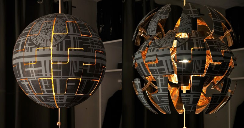 Star Wars Fans Turn IKEA Lamp Into Death Star