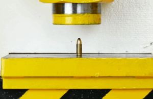 Crush Bullets With Hydraulic Press