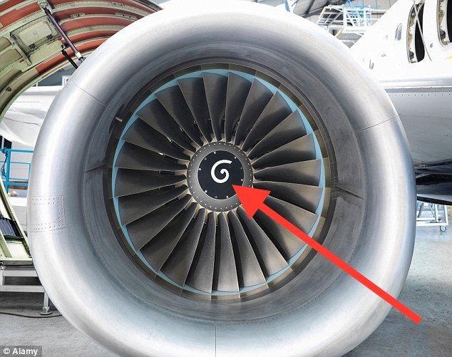 Why There Are White Spirals Inside An Airplane Engine?