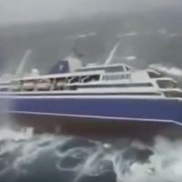 Video Of a Cruise Ship Rocks Dangerously During A Storm