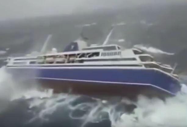 Cruise Ship Rocks Dangerously