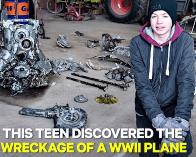 Teen Stumbled Upon An Old WW2 Fighter Plane