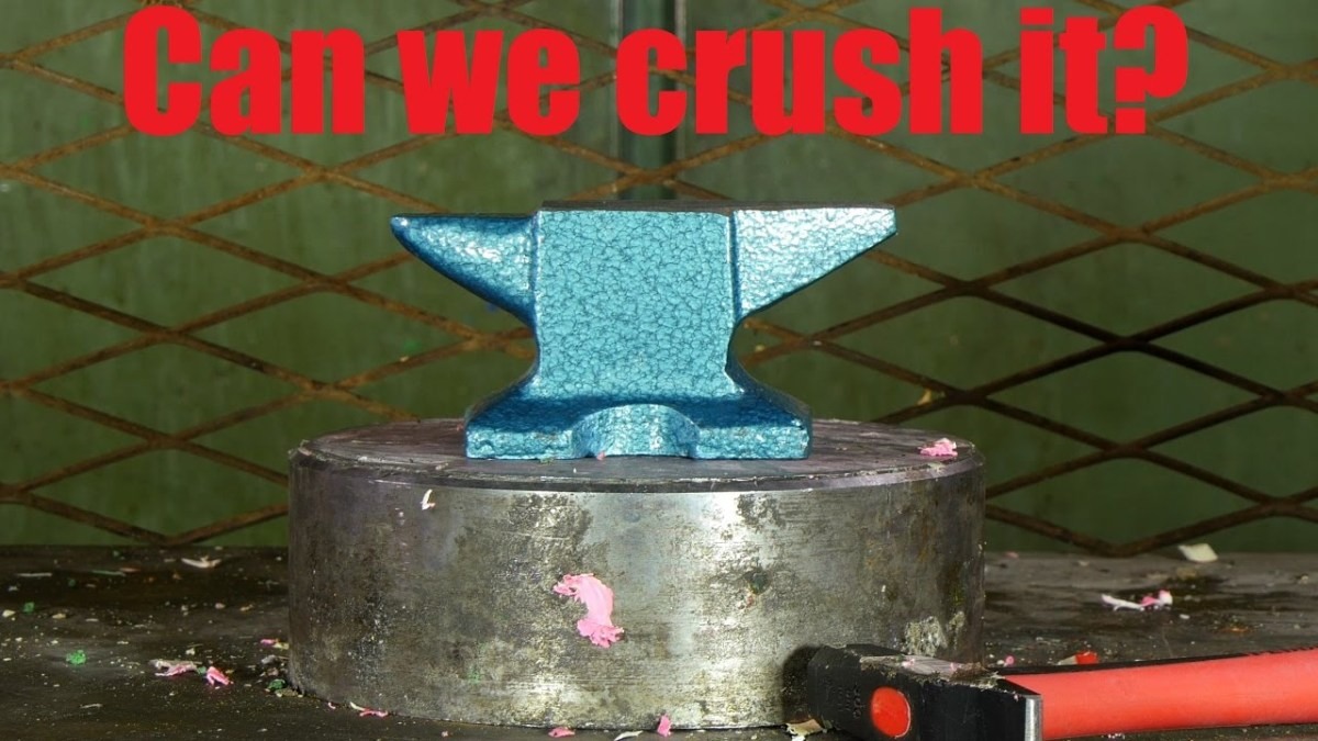 The Hydraulic Press Vs The Mighty Anvil