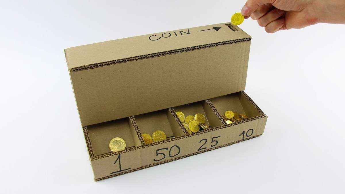 Learn How to Make Your Own Cardboard Coin Sorting Machine