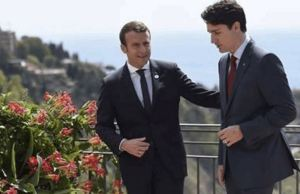 Justin Trudeau And Emmanuel Macron