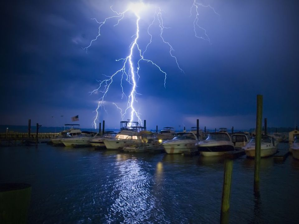 Lightning Strikes Boat