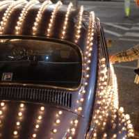 This VW Beetle Covered With 1600 Computer Controlled Light Bulbs