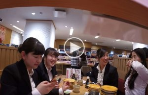 GoPro on Sushi Conveyor Belt