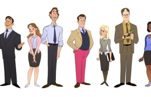 Cartoon Version of The Office