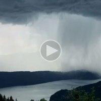 Incredible Cloudburst Timelapse Over Austria's LakeMillstatt