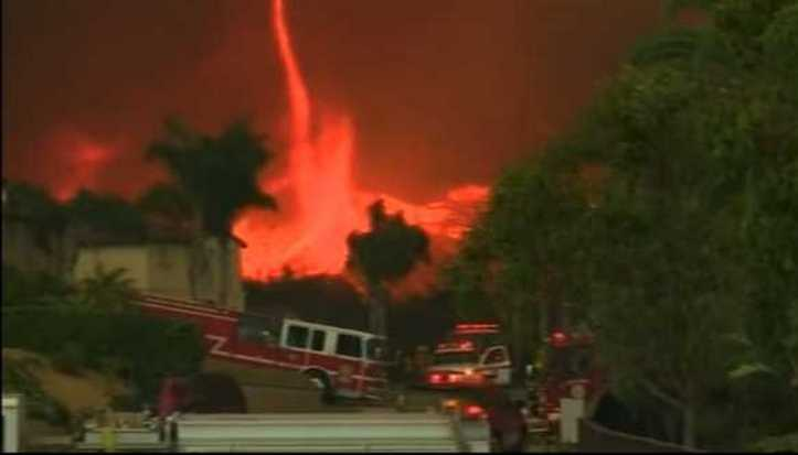 Horrifying Video of Devil Fire Tornado Raging Through California