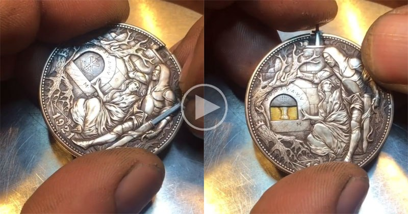 Engraved Sword Coin by Roman Booteen