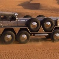 Sheikh of UAE Revealed 'Monster SUV' Made By Mashing Jeep and a Military Truck