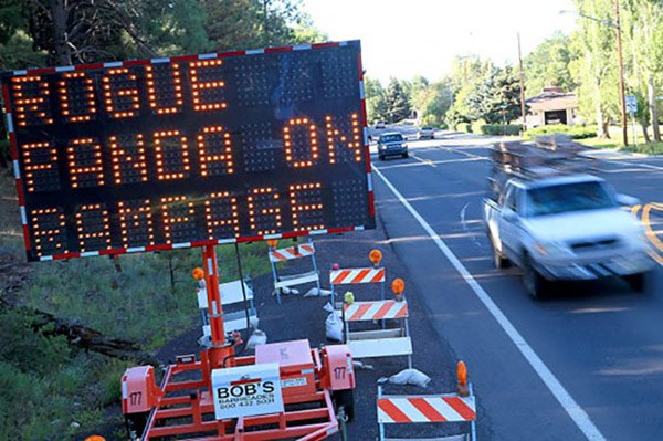 Hacked Electronic Road Signs